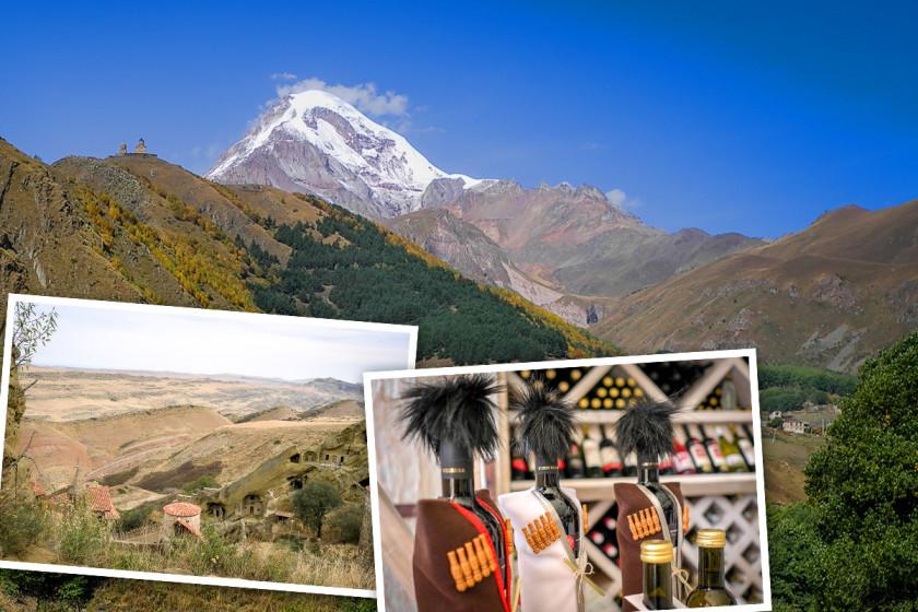 Wein und Klöster in Georgien am Kaukasus