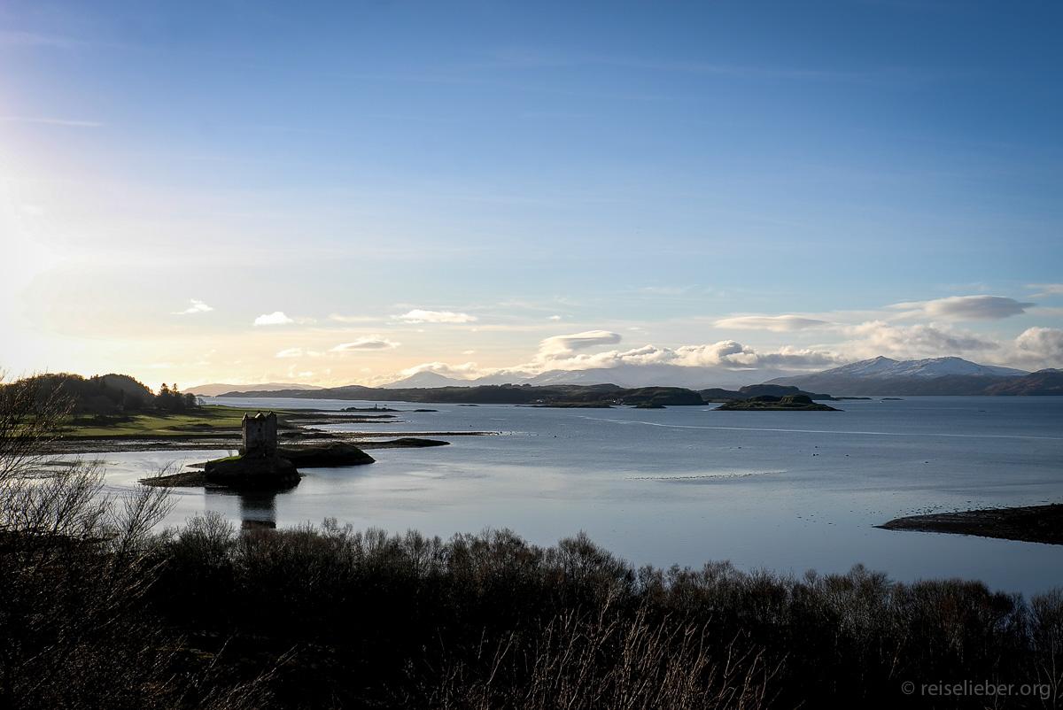 Stalker Castle an der Westküste Schottlands