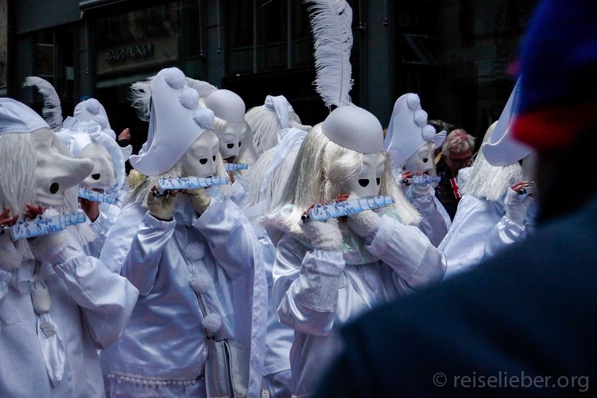 Pierrot Kostüm auf der Baseler Fasnacht