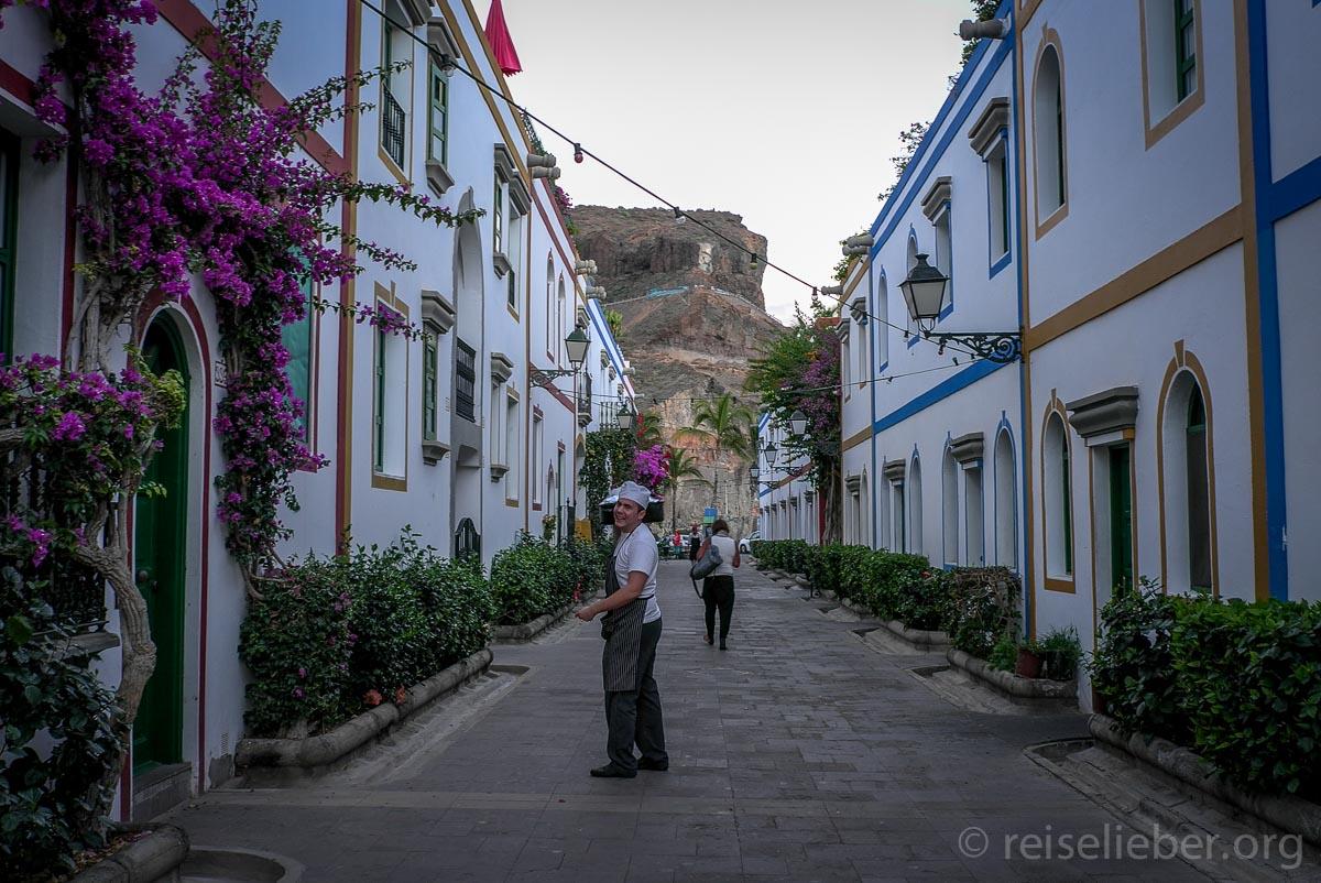 Straße in Puerto Mogán