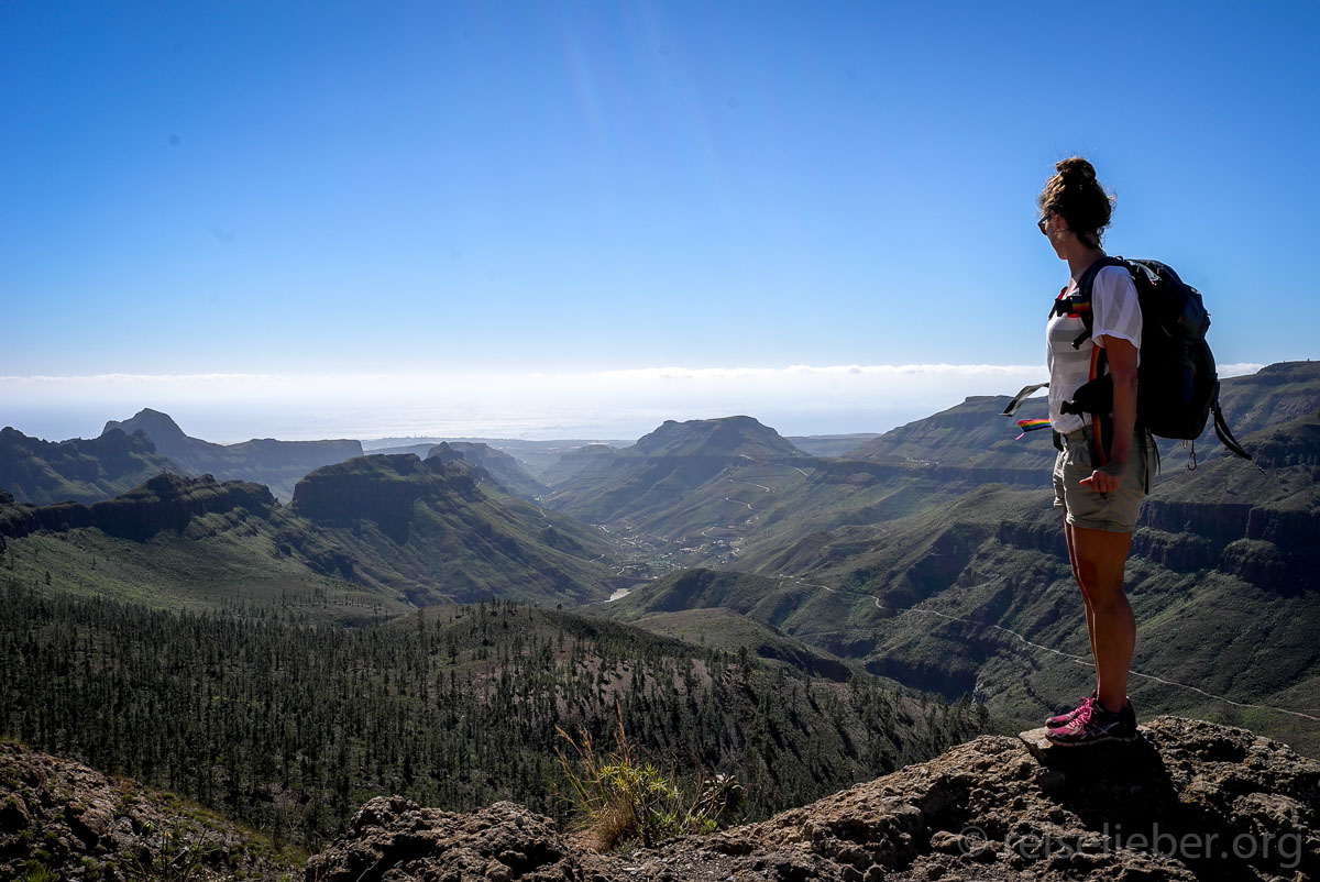 Der Blick reicht bis an die Südküste von Gran Canaria