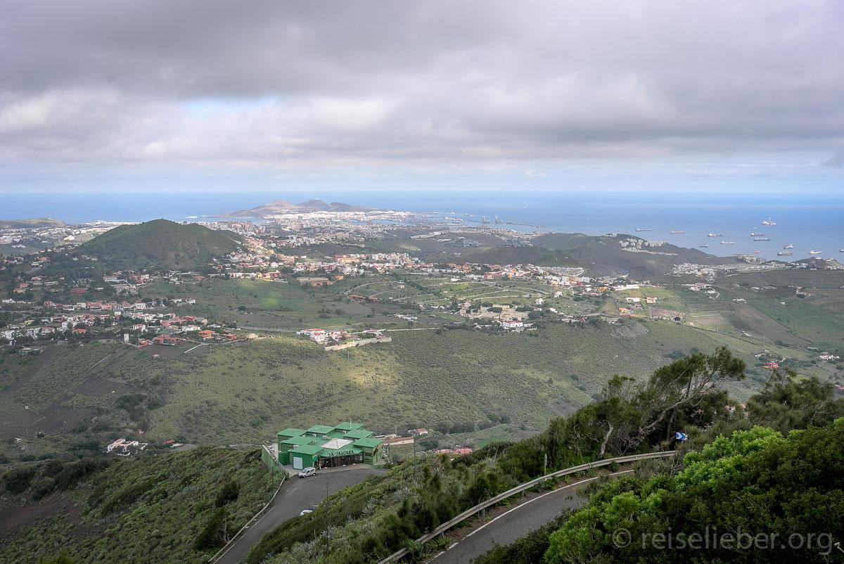 Las Palmas de Gran Canaria, vom Pico de Bandama aus gesehen