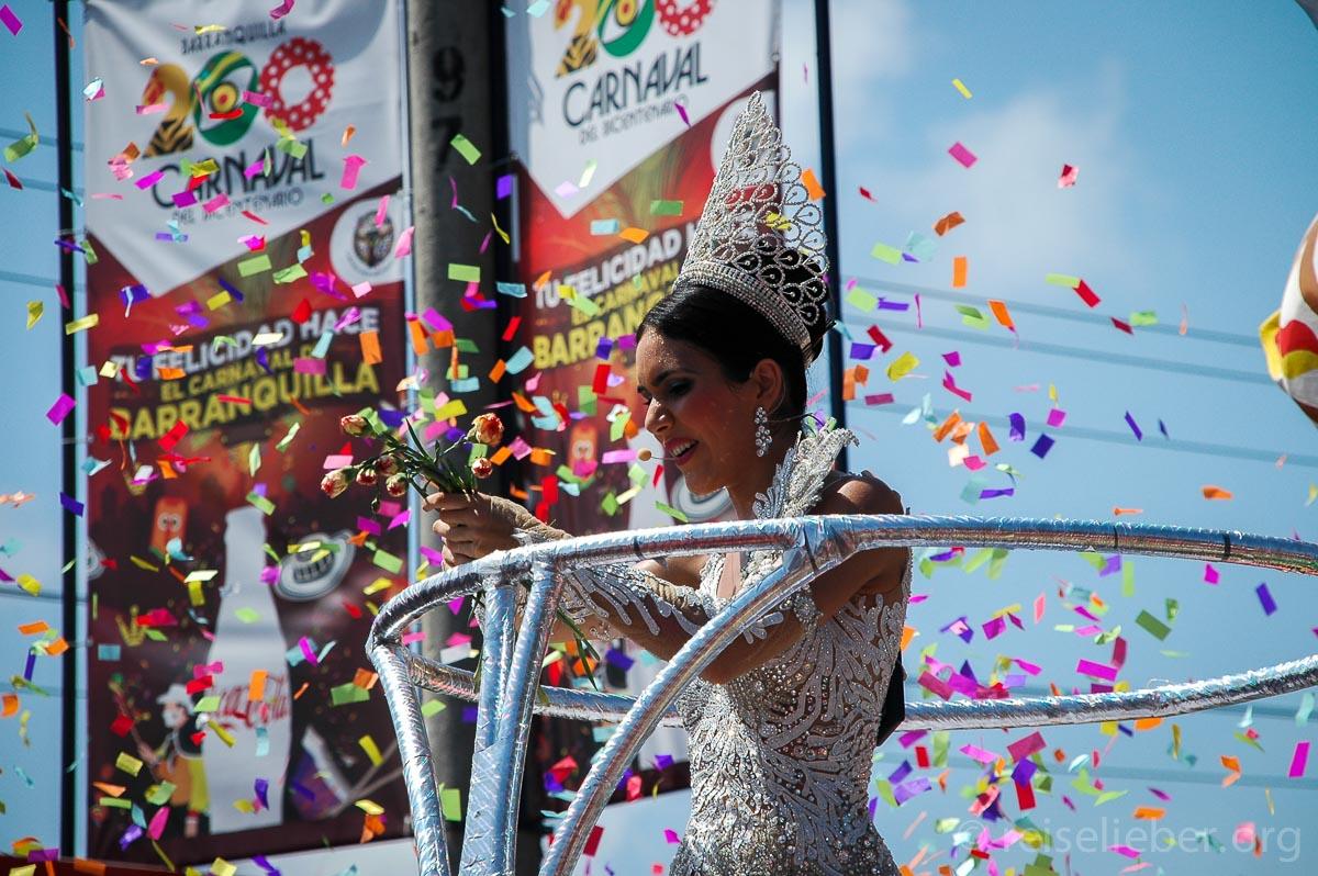 Karnevalskönigin in Barranquilla