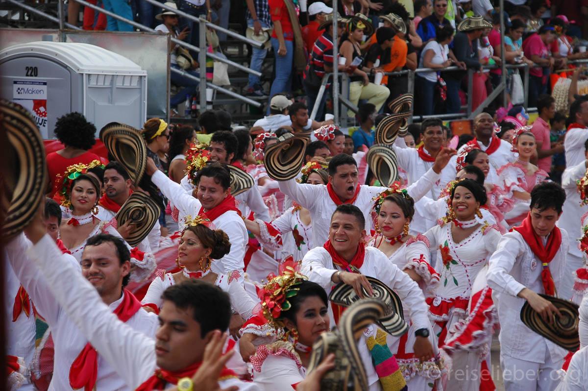 Parade auf dem Batalla de Flores auf dem Carneval de Barranquilla