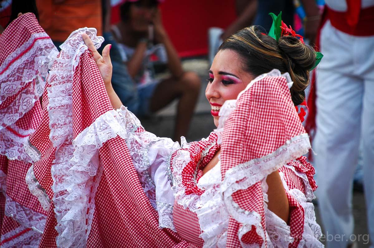 Cumbiamba Tänzerin