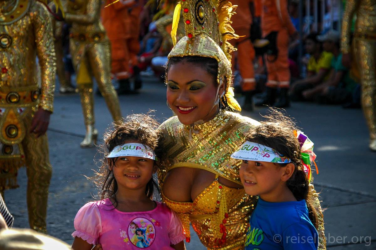 Auf dem Desfile de los Niños, Carnaval de Barranquilla