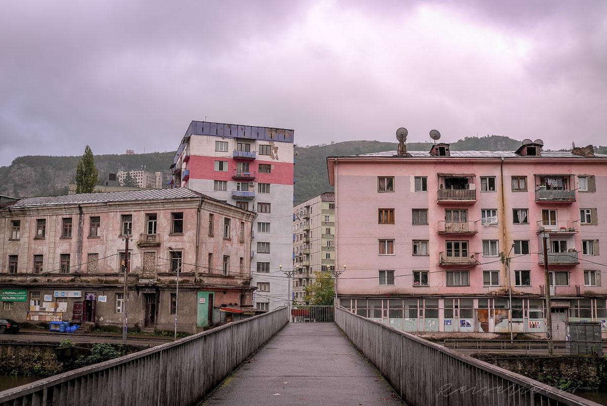 Wohnhäuser in Chiatura