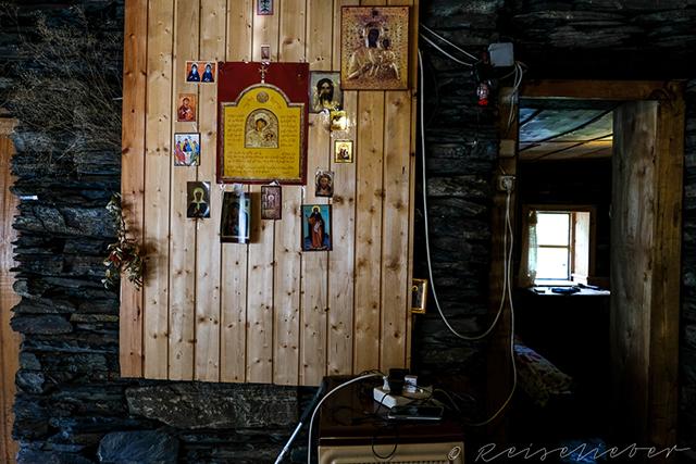 Aufenthaltsraum in Gästehaus in Tuschetien