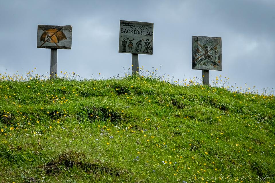 Schilder in Tuschetien