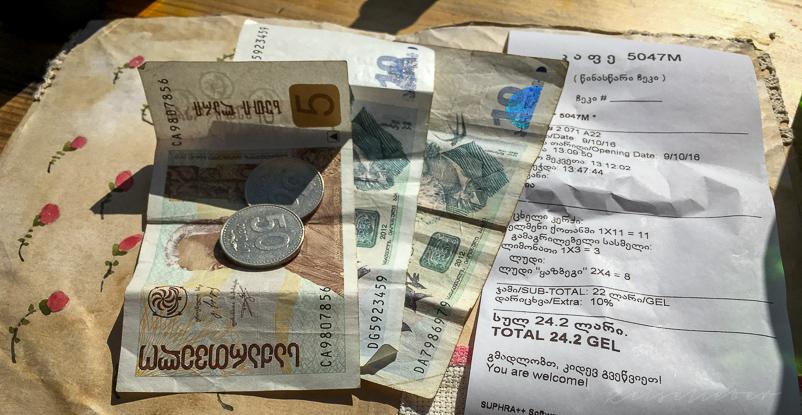 Die georgische Währung Lari