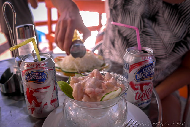 Krabbencocktail im Ausflugsrestaurant