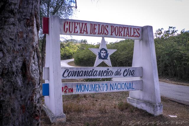 Schild auf Kuba