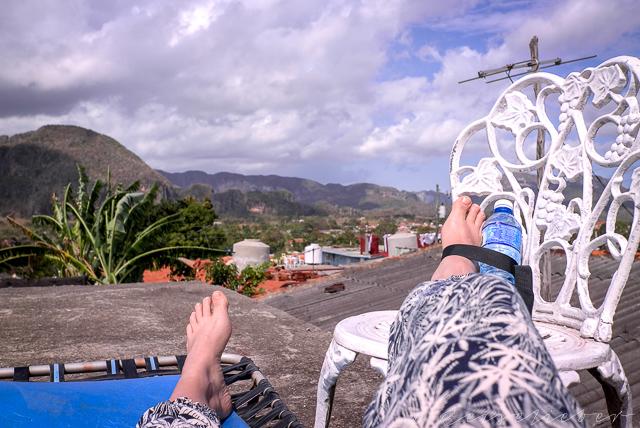 Auf einem Dach in Viñales