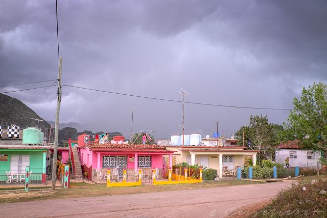 Stürmischer Himmel über Viñales