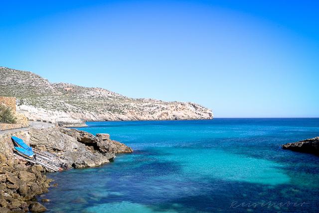 Türkisene Badebucht auf Mallorca