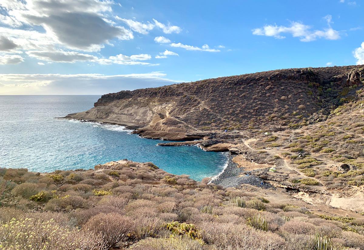 Meeresbucht auf Teneriffa
