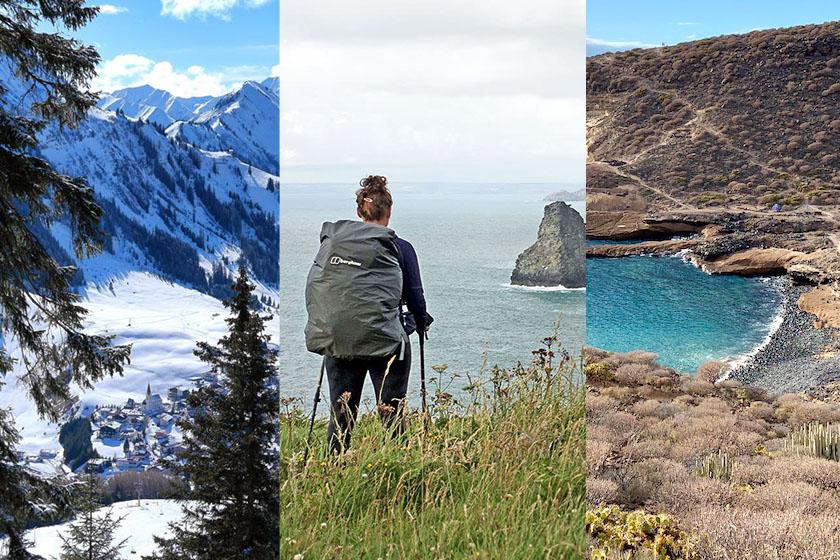Wandern im März Kollage