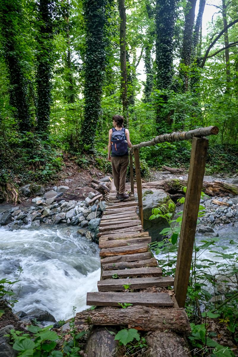 Brück im Lagodekhi-Nationalpark
