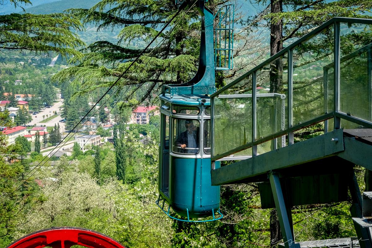 Eine Seilbahnfahrt macht immer Spaß! Rauf zum Georgien, Kaukasus, Kutaissi, Ausflüge in die Umgebung von Kutassi, Martvili Kloster,