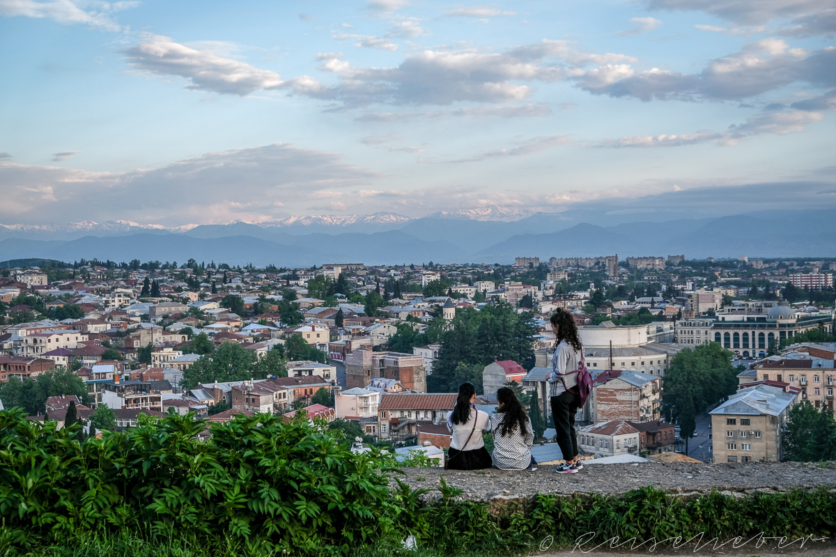 Blick über Kutaissi,Ausflüge in die Umgebung von Kutassi