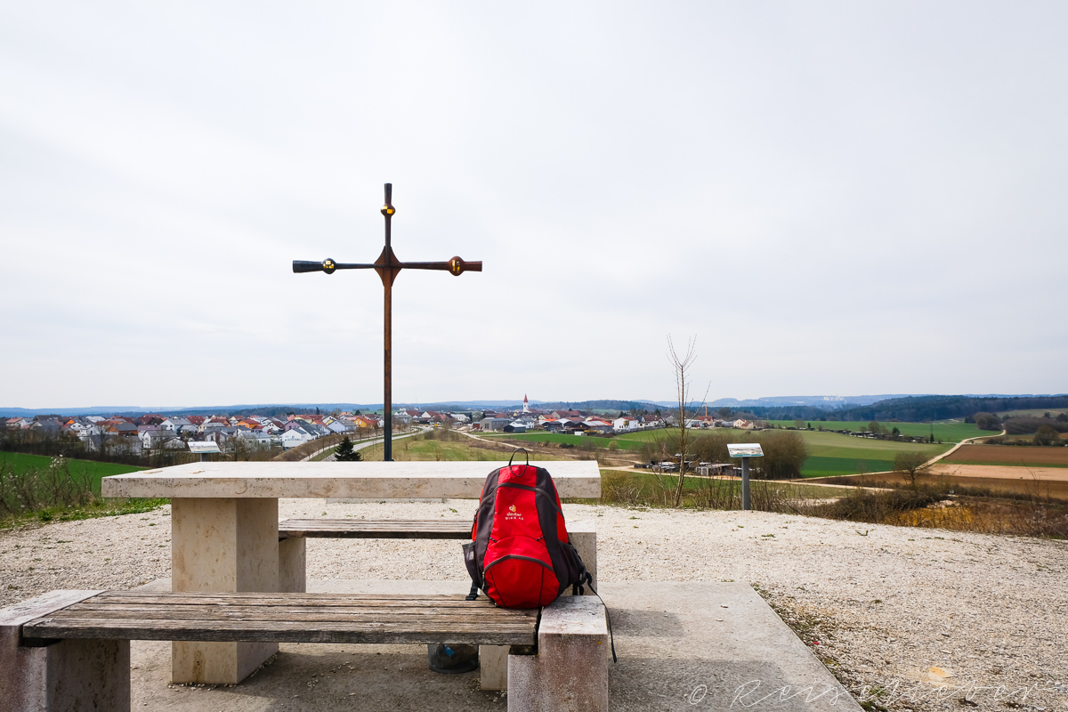 "Aussichtspunkt ""Kreuzberg"" ist der Ausgangspunkt der Rundwanderung um Schernfeld"