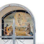 Jesus-Bild in einer Kapelle an der Rundwanderung um Schernfeld
