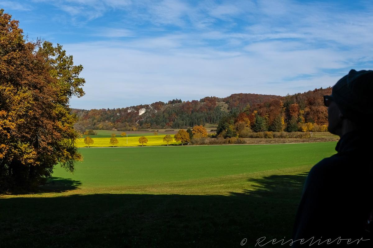 Blick nach Norden Richtung Dollnstein im Urdonautal